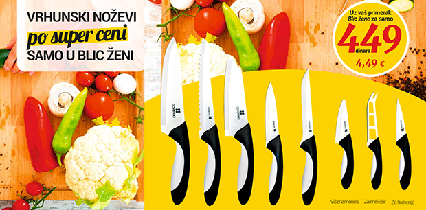 Ceramic knives set - Inovative and exclusive
